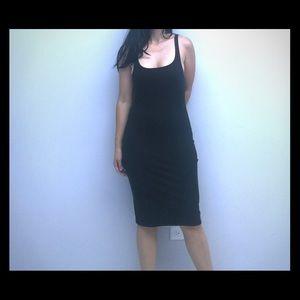 Zara Trafaluc Collection Black Tank Midi Dress
